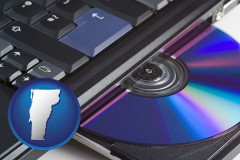 vermont loading software into a laptop computer from a cd