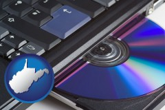 west-virginia loading software into a laptop computer from a cd