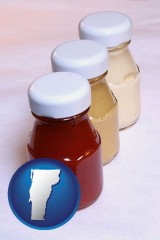 vermont ketchup, mustard, and mayonnaise condiments