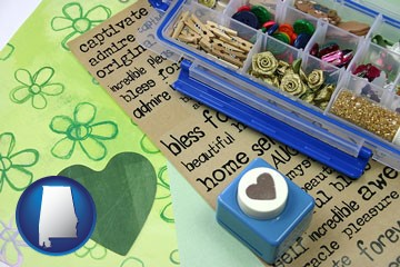 scrapbooking craft supplies - with Alabama icon