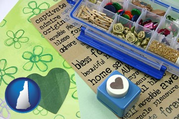 scrapbooking craft supplies - with New Hampshire icon