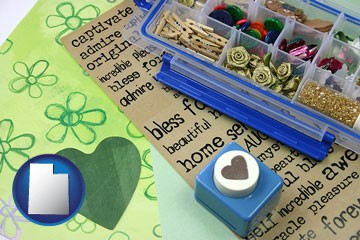scrapbooking craft supplies - with Utah icon