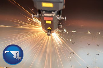 a laser cutting tool - with Maryland icon