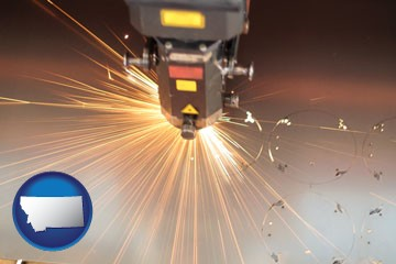 a laser cutting tool - with Montana icon