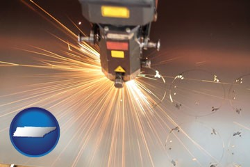 a laser cutting tool - with Tennessee icon