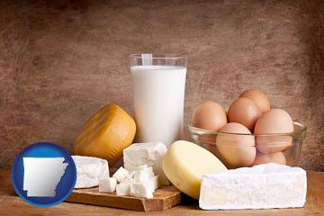 dairy products - with Arkansas icon