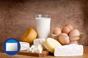 dairy products - with Colorado icon