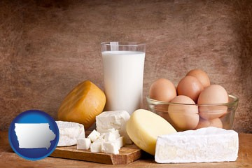 dairy products - with Iowa icon
