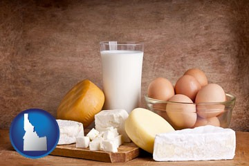 dairy products - with Idaho icon