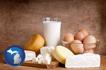 dairy products - with Michigan icon