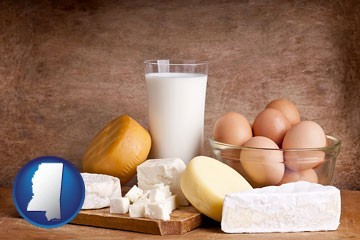 dairy products - with Mississippi icon