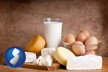 dairy products - with New Jersey icon