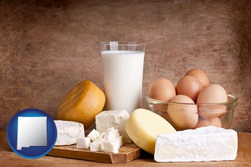 dairy products - with New Mexico icon