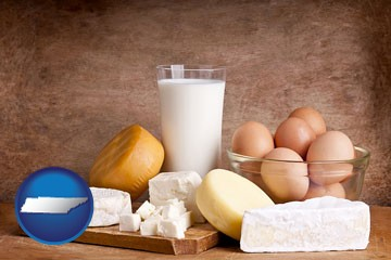 dairy products - with Tennessee icon
