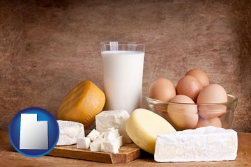 dairy products - with Utah icon