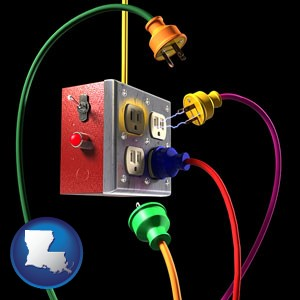 electric outlets and plugs - with Louisiana icon