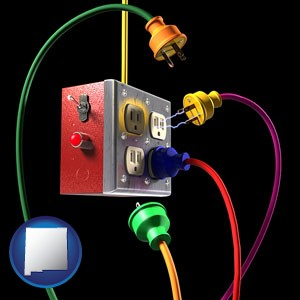 electric outlets and plugs - with New Mexico icon