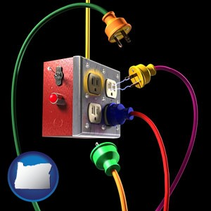 electric outlets and plugs - with Oregon icon