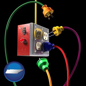 electric outlets and plugs - with Tennessee icon