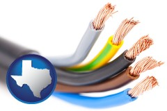 texas copper electrical wires in an insulated electric cable