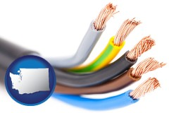 washington copper electrical wires in an insulated electric cable