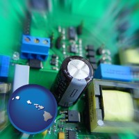hawaii electronic components on a circuit board