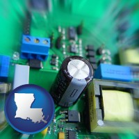 louisiana electronic components on a circuit board