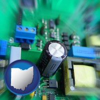 ohio electronic components on a circuit board