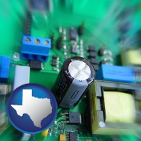 texas electronic components on a circuit board