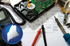 maine electronic devices, tools, and supplies