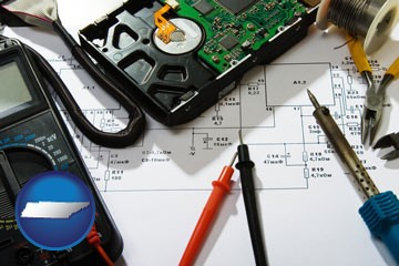 electronic devices, tools, and supplies - with Tennessee icon