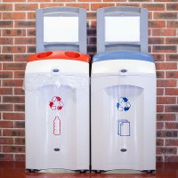 recycling containers for paper and plastics