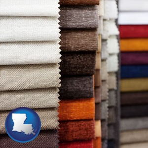 upholstery fabric samples - with Louisiana icon