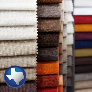 upholstery fabric samples - with Texas icon