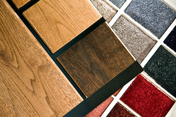 hardwood floor and carpet samples