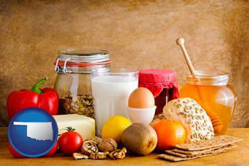 healthy foods - with Oklahoma icon