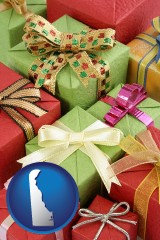 delaware wrapped holiday gifts