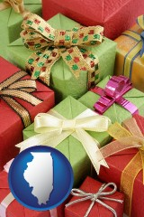 illinois wrapped holiday gifts