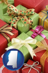 mississippi wrapped holiday gifts
