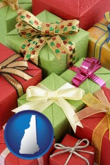 new-hampshire wrapped holiday gifts