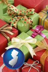 new-jersey wrapped holiday gifts