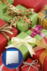 new-mexico wrapped holiday gifts
