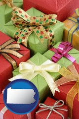 pennsylvania wrapped holiday gifts