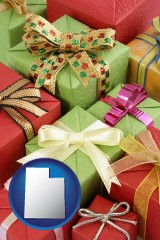 utah wrapped holiday gifts