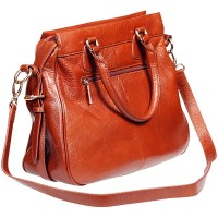 a brown leather handbag