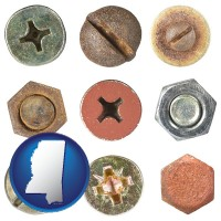 mississippi screws heads and bolt heads