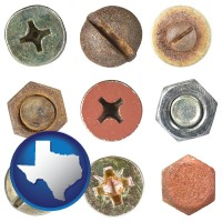 texas screws heads and bolt heads