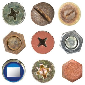 screws heads and bolt heads - with Colorado icon