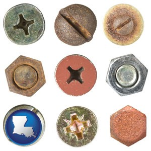 screws heads and bolt heads - with Louisiana icon
