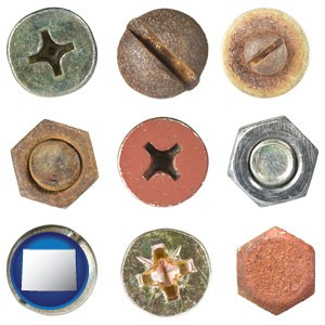 screws heads and bolt heads - with Wyoming icon